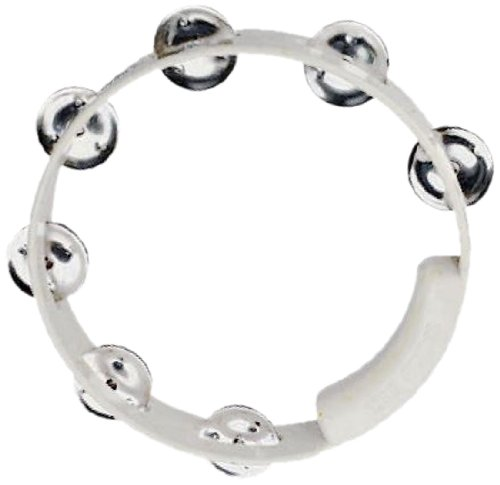 RhythmTech TC4028 8-Inch True Colors Tambourine, White