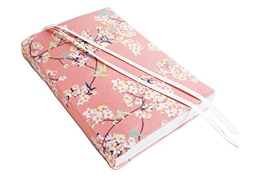 6 Inch Trade Paperback Book Cover in CHERRY BLOSSOMS Stretch Fabric Floral Book ()