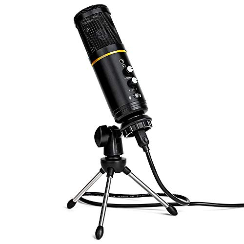 USB Microphone for Computer,Condenser Recording PC Microphone for Mac & Windows,Professional Plug&Play Studio Microphone for Gaming, Podcast,Chatting, YouTube Videos,Voice Overs and Streaming