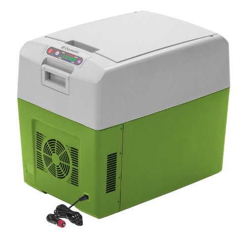 Dometic TC-35US Portable Thermo Electric Cooler/Warmer 37 Quart, Gray/Green Lid Display Freezer