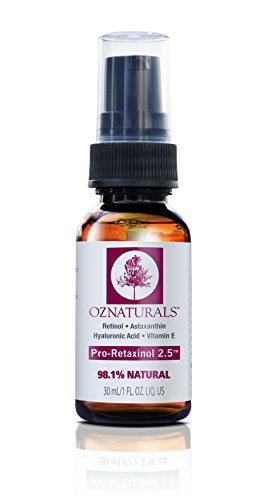 Price comparison product image OZNaturals Anti Aging Retinol Serum -The Most Effective Anti Wrinkle Serum Contains Professional Strength Retinol+ Astaxanthin+ Vitamin E - Get The Dramatic Youthful Results You've Been Looking For