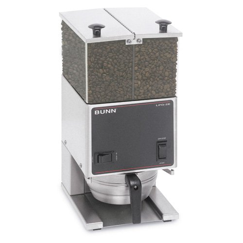 BUNN LPG2E Low Profile Portion Control Grinder with 2 Hoppers by Bunn