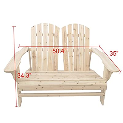 LOKATSE HOME Outdoor Wooden Chair and Table Set