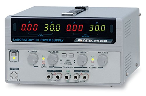 GW Instek GPS-2303 Dual Output Linear DC Power Supply, 2 Channels, 3 Output Amps, 30 Output Volts, 180 Output Watts