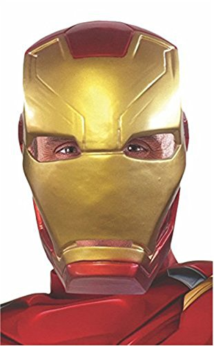 Rubie's Men's Captain America: Civil War Iron Man Half Mask, Multi One Size
