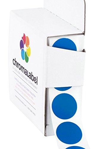 ChromaLabel 3/4 inch Color-Code Dot Labels | 1,000/Dispenser Box (Dark Blue)