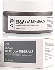 ANAiRUi Dead Sea Mud Mask for Face All Natural Minerals Clay Mask to Deep Cleansing Reducer for Acne, Blackheads and Oily Skin, Contract Pores - 3.52oz