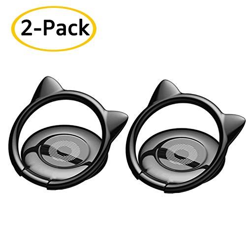 2-Pack Phone Finger Ring Stand D.Sking Smart Phone Ring Holder (2-Pack Black)