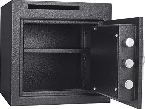 Winbest Steel Digital Keypad Cash Drop Front Loaded Depository Safe Drop Box Storage 1.12 Cubic ft by winbest (Image #1)