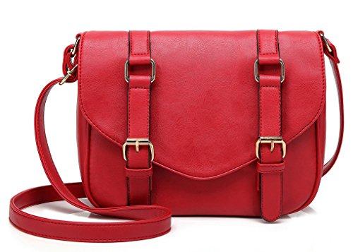 Scarleton Decorative Front Belt Crossbody Bag H172510 - Red