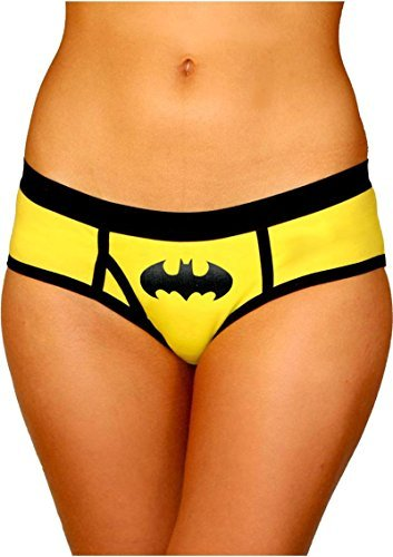 Superhero Licensed Goods Batman Boyshort Panty with Foil Logo (Small) Yellow