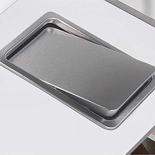Fransande Tapa de basura de acero con tapa de basura para encimera de cocina