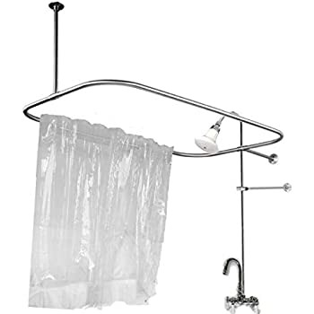 Add on Shower for Clawfoot Tub with Riser & Diverter