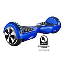 Gyrocopters Pro 2.0 - Hover board UL2272 certified Blue With GPS, APP, Bluetooth, Speakers and LED Lights