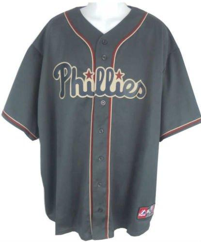 Replica Jersey Phillies - VF Philadelphia Phillies Alternate Granite Majestic Replica Jersey Big & Tall Sizes (3XL)