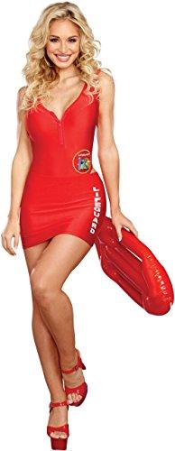 Dreamgirl Women's On Duty Cutie, red, M -