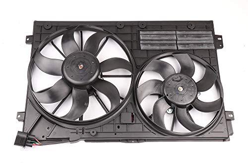SCITOO Dual Radiator Condenser Cooling Fan Compatible with Audi Quattro/TT Volkswagen Passat/Passat CC/Golf/Beetle