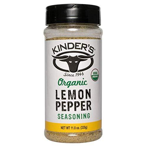 Kinder's Organic Lemon Pepper Seasoning, 11.8 OZ, One - Seasoning Pepper Lemon Grill
