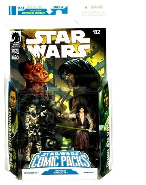 Star Wars Comic Packs: Star Wars Republic #82: Commander Faie and Quinlan Vos Action Figures