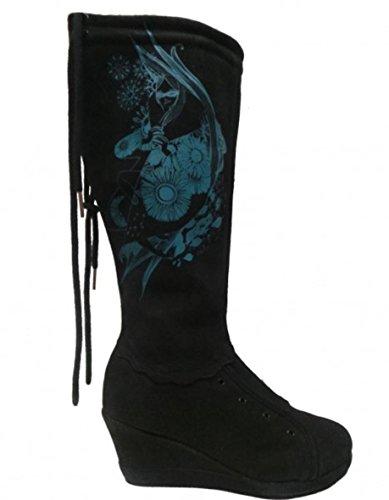 Etniesplus Womens Boots Olivia Miranda Plus Black/Cyan