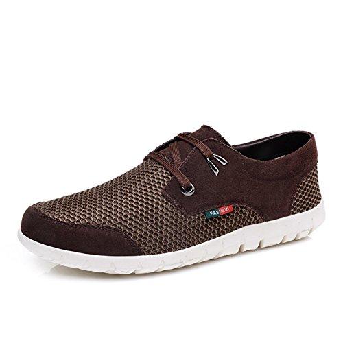 Tenis Zapatillas Shoes Botia Punta de Boat Cómodo de S1512 Mocasines Encaje de Summer Redonda Coffee Deporte Flat Casual Hasta Mesh Hombres para Mocasines rqw0APxqa