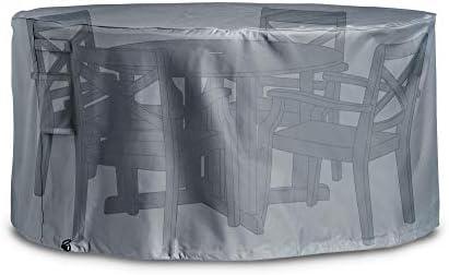 VonHaus Cubierta Industrial para Set de Mesa y Sillas de Jardín Premium- The Storm Collection – Gris Pizarra: Amazon.es: Jardín