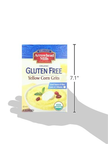 Arrowhead Mills Organic Gluten-Free Yellow Corn Grits, 24 oz. Bag (Pack of 6) by Arrowhead Mills (Image #7)