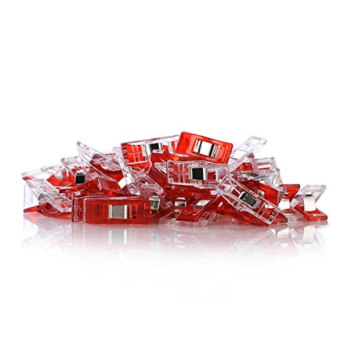 Buy GWHOLE Pack of 60 Sewing Clips for Quilting Crafting, Red