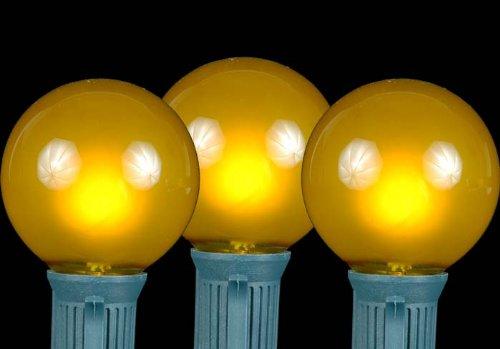 UPC 689466426878, Novelty Lights 25 Pack G50 Outdoor String Light Globe Replacement Bulbs, Yellow, E17/C9 Base, 7 Watt
