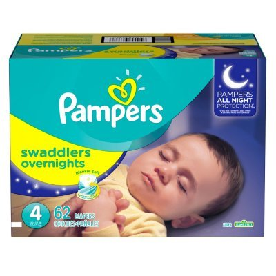 Branded Pampers Swaddlers Overnights Diapers, Size 4, 62 Diapers , Weight 22.37lbs - Branded Diapers with fast delivery (Soft and Comfortable for Babies)