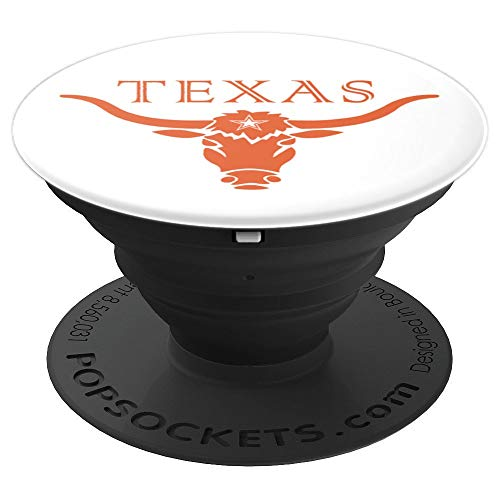 Texas Longhorn Bull Icon - PopSockets Grip and Stand for Phones and Tablets ()