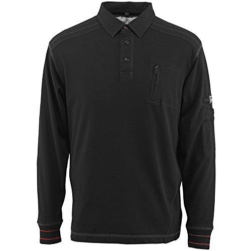 "Mascot Polo-sweatshirt ""Ios"", 1 Stück, S, schwarz, 50352-833-09-S"