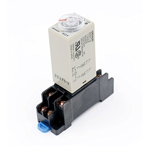 Time Delay Relay Solid State Timer 60S DPDT w Socket ()