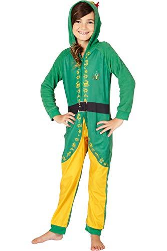 INTIMO Elf The Movie 'Buddy The Elf' One Piece Costume Pajama Set, Green, 10/12 -