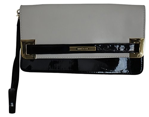 Anne Klein High Definition Black and White Clutch Handbag