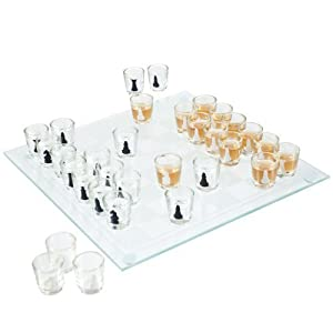 Trademark 32-Piece Shot Glass Drinking Game Chess Set by Trademark