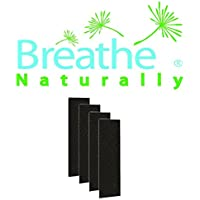 Breathe Naturally® Carbon Activated PreFilter 4-pack for use with the GermGuardian FLT4825 HEPA Filter, AC4800 Series, Filter B