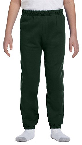 Jerzees Youth 8 oz., 50/50 NuBlend Sweatpants, Small, FOREST GREEN ()