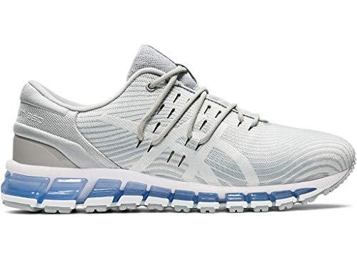 ASICS Women's Gel-Quantum 360 4 Running Shoes, 7.5M, MID Grey/Glacier Grey