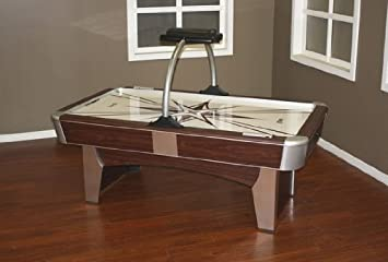 American Heritage 390074 Monarch Series Air Hockey Table With Two Player  Electronic Scorer And