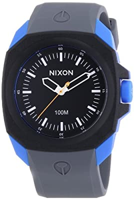 Nixon The Ruckus Black Dial Gray Silicone Mens Watch A3491537