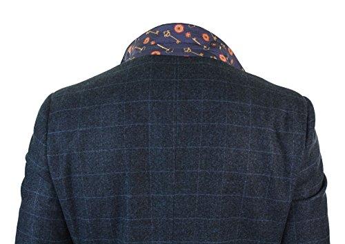 Da Uomo Elegante 3 Completo A Pezzi In Regular Scacchi Blu Tweed Marino Vintage Abito pxtSqnBpw