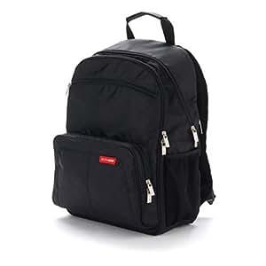 Skip Hop Via Backpack Diaper Bag, Black (Discontinued by Manufacturer)