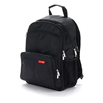 Amazon.com : Skip Hop Via Backpack Diaper Bag, Black (Discontinued by Manufacturer) : Diaper Tote Bags : Baby