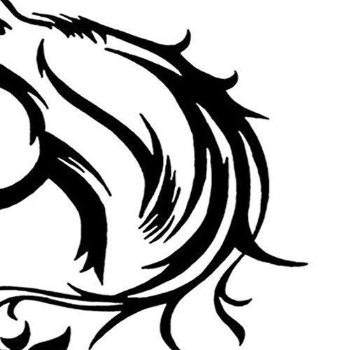 Fantasyworld Cabeza de Caballo Reflectante Creativo Etiqueta engomada Decorativa Impermeable extra/íble Coche Motocicleta Etiqueta engomada del Coche el/éctrico Pegatinas Decorativas