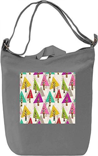 Forest Print Borsa Giornaliera Canvas Canvas Day Bag  100% Premium Cotton Canvas  DTG Printing 