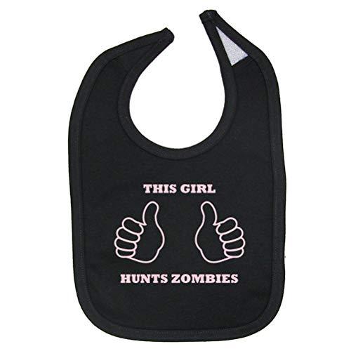 Zombie Underground This Girl Hunts Zombies Cotton Baby Bib (Black)]()