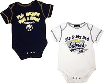 Buffalo Sabres Newborn Infant White Alternate 2 Piece Creeper Set (0/3 Months)