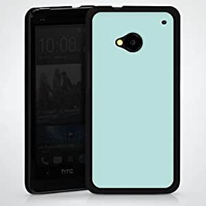 Carcasa Design Funda para HTC One M7 HardCase black - Aquamarin