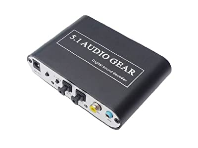 ACE Deal Digital Audio to Analog Audio Converter Adapter Digital Sound Decoder-Support Decoding Dolby AC3/DTS Audio